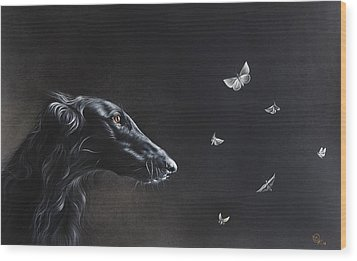 Wood Print featuring the drawing Tender Is The Night by Elena Kolotusha