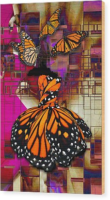 Wood Print featuring the mixed media Tenderly by Marvin Blaine