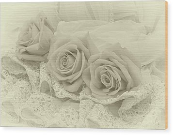 Tenderness Wood Print by Sandra Foster
