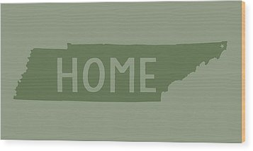 Wood Print featuring the digital art Tennessee Home Green by Heather Applegate