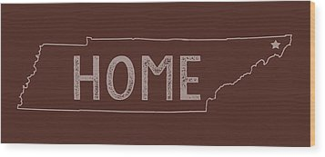 Wood Print featuring the digital art Tennessee Home by Heather Applegate