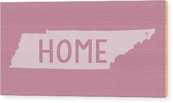 Wood Print featuring the photograph Tennessee Home White by Heather Applegate