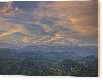 Tennessee Mountains Sunset Wood Print