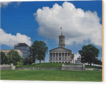 Tennessee State Capitol Nashville Wood Print by Susanne Van Hulst