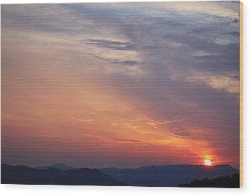 Tennessee Sunset Wood Print by Beth Vincent