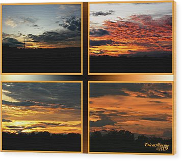 Tennessee Sunset Wood Print by EricaMaxine  Price