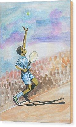 Tennis 02 Wood Print by Emmanuel Baliyanga
