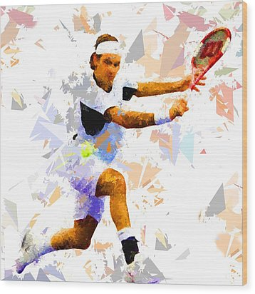 Wood Print featuring the painting Tennis 114 by Movie Poster Prints
