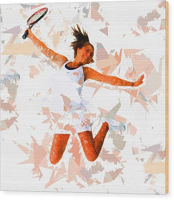 Wood Print featuring the painting Tennis 115 by Movie Poster Prints