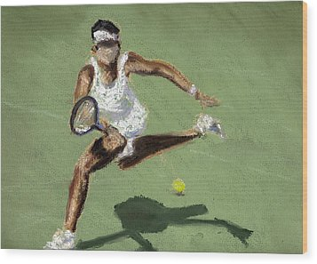 Tennis In The Sun Wood Print by Paul Mitchell