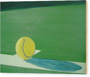 Tennis Reflections Wood Print by Ken Pursley