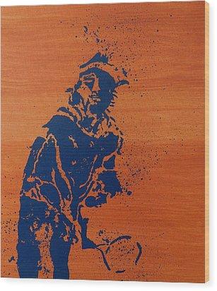 Tennis Splatter Wood Print by Ken Pursley