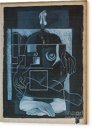 Wood Print featuring the painting Tense Leisure by Fei A