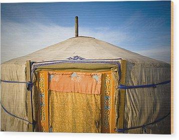 Tent In The Desert Ulaanbaatar, Mongolia Wood Print by David DuChemin