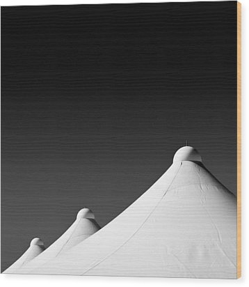 Tent Tops Wood Print by Dave Bowman