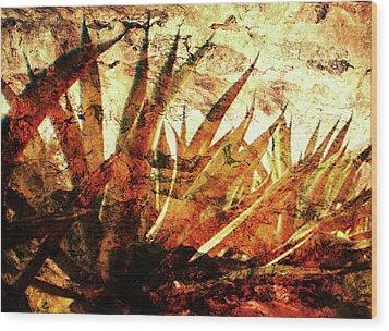 Tequila Field Wood Print by J- J- Espinoza