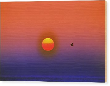 Tequila Sunrise Wood Print by Bill Cannon