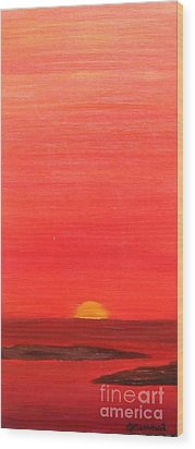Wood Print featuring the painting Tequila Sunrise by Lori Jacobus-Crawford