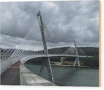 Terenez Bridge I Wood Print by Helen Northcott