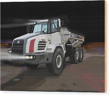 Terex Ta27 Articulated Dump Truck Wood Print by Brad Burns