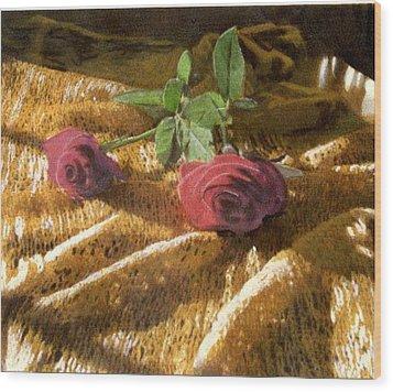 Teri's Roses Wood Print