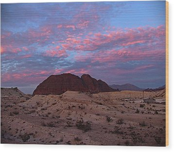 Wood Print featuring the painting Terlingua Sunset by Dennis Ciscel