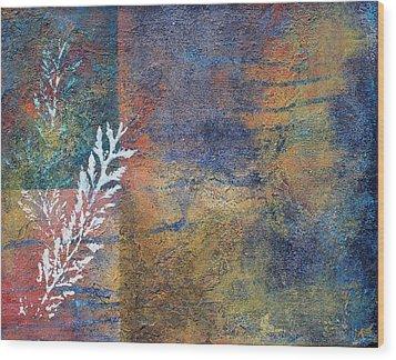 Terra Firma Wood Print by Theresa Marie Johnson