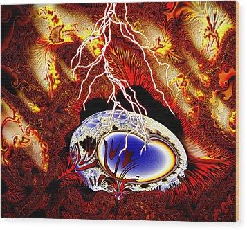 Terra Ovum One Wood Print by Roger Soule