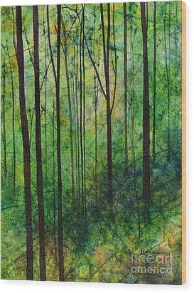 Wood Print featuring the painting Terra Verde by Hailey E Herrera