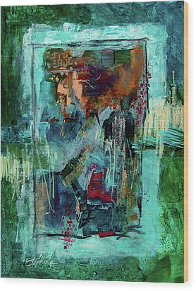 Terra Verde Wood Print by Ron Stephens