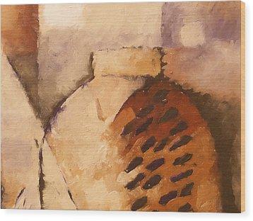 Terracotta Wood Print by Lutz Baar