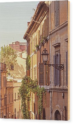 Wood Print featuring the photograph Terracotta - Rome Italy Travel Photography by Melanie Alexandra Price