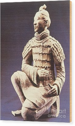 Wood Print featuring the photograph Terracotta Soldier by Heiko Koehrer-Wagner