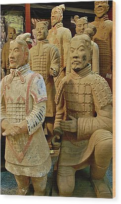 Terracotta Warriors Wood Print by Dorota Nowak