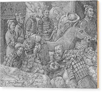 Terracotta Warriors Wood Print