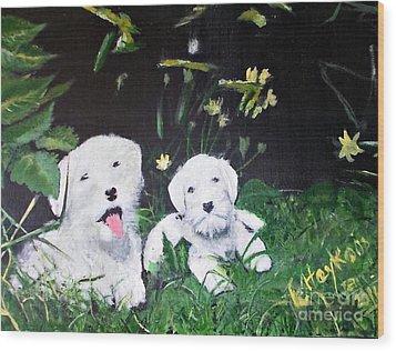 Terriers' Farm Pals. Wood Print