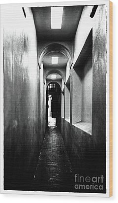Terror Hall Wood Print by John Rizzuto