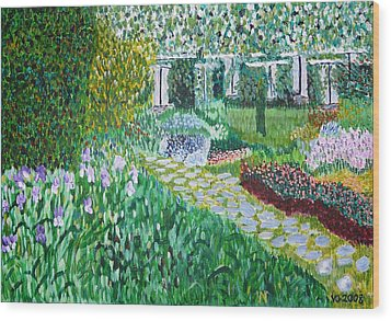 Tete D'or Park Lyon France Wood Print by Valerie Ornstein