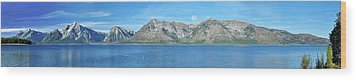 Teton Moonset Borderless Wood Print by Greg Norrell