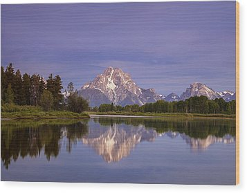 Teton Reflections Wood Print by Andrew Soundarajan