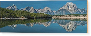 Wood Print featuring the photograph Teton Reflections by Gary Lengyel