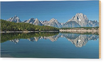 Wood Print featuring the photograph Teton Reflections II by Gary Lengyel