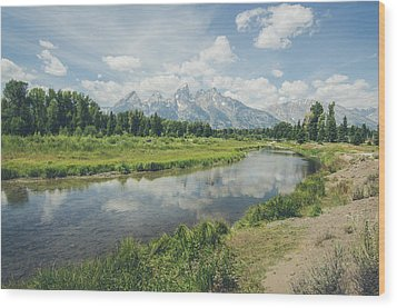 Teton Reflections Wood Print