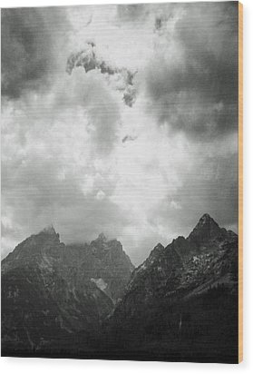 Wood Print featuring the photograph Teton Sky by Allan McConnell