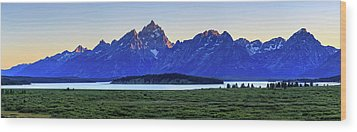 Wood Print featuring the photograph Teton Sunset by David Chandler