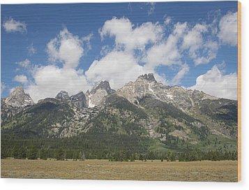 Teton View Wood Print