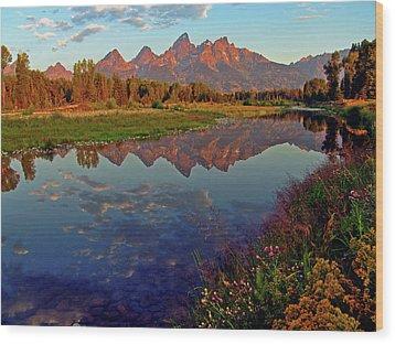 Teton Wildflowers Wood Print by Scott Mahon