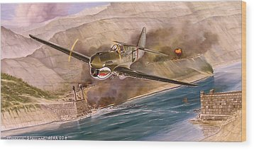Tex Hill Over The Salween Gorge Wood Print by Marc Stewart