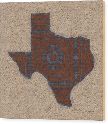 Texas 1 Wood Print