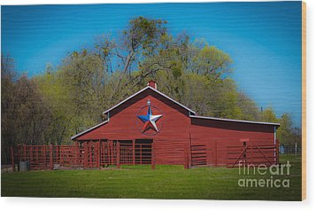 Texas Barn Wood Print